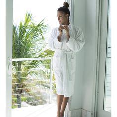 Bamboo Bathrobe - White - Robes - Bath - Bed & Bath