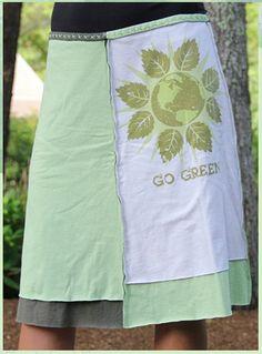 recycled T Shirt skirt (inspiration) :: jupiter girl
