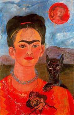 Frida Kahlo - Self-portrait 1954 by petrus.agricola, via Flickr