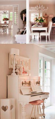 Keltainen talo rannalla: Valkoista, rustiikkista ja romanttista