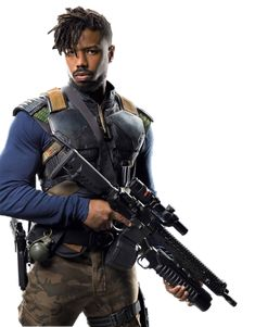 Eric Killmonger (Combat Suit) - PNG by on DeviantArt Black Panther Images, Panther Pictures, Black Panther Art, Black Panther Marvel, Marvel Villains, Marvel Heroes, Marvel Movies, Marvel Dc, Marvel Universe