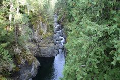 Englishman River below the Upper Falls. Near Parksville on Vancouver Island, BC.