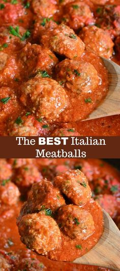 This is the best classic meatballs recipe and The BEST Italian Meatballs Recipe. This is the best classic meatballs recipe and.The BEST Italian Meatballs Recipe. This is the best classic meatballs recipe and. Best Italian Meatball Recipe, Classic Meatball Recipe, Classic Recipe, Homemade Italian Meatballs, Best Italian Food, Homemade Meatball Recipes, Best Meatball Sauce, Best Italian Recipes, Gourmet