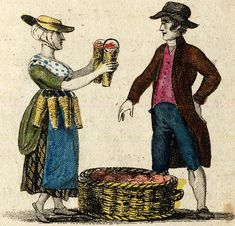 Cries of London, illustrated 1803 From Spitalsfield blog strawberries