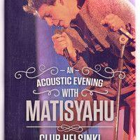 "Matisyahu - ""Running Away"" Bob Marley cover live at Helsinki - Hudson NY by matisyahu on SoundCloud"