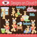 Designs on Cloud 9 Dust Bunnies SVG and cutting files
