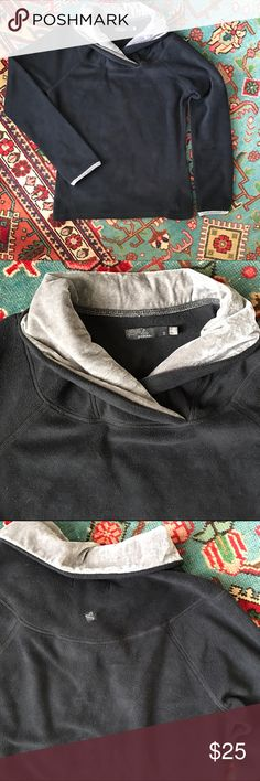 PrAna super soft fleece This PrAna fleece is so soft and cuddly. Grey velvet collar and sleeve detail Prana Tops Sweatshirts & Hoodies