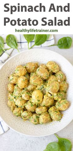 Spinach and potato salad is a super delicious summer side dish. It is made with baby potatoes, spinach, spring onion and seasoned with turmeric, curry and grama masala. The best thing about this potato salad is that it doesn't need a fancy dressing, just a few tablespoons of yoghurt and mayonnaise. The reason for that is because the potatoes are already perfectly seasoned and so flavourful. #warmsalad #easysalad #potatosalad #Spinachsalad Warm Salad, Summer Side Dishes, Baby Potatoes, Spinach Salad, Recipes From Heaven, Easy Salads, Potato Salad, Healthy Life, Curry