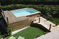 Piscine en bois hors sol avec terrasse