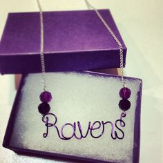 Baltimore RAVENS Necklace