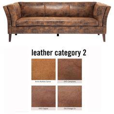 Sofa Canapee 3-Seater Individual Leather 2 - KARE Design