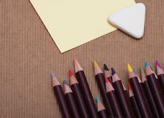 Colored pencils on cardboard by Liliia Rudchenko  on Creative Market
