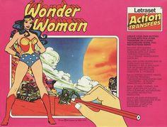 Wonder Woman letraset action transfer