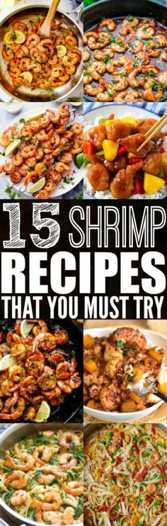 If you're looking for a healthy and tasty meal to cook tonight, then you need to try these shrimp recipes for dinner!