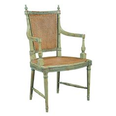 Le Grande Arm Chair - love the color and vintage look!