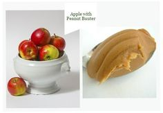 apple with peanut butter Healthy night time snacks for weight loss