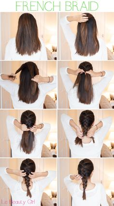 How to French Braid hair step by step – Long HairStyles