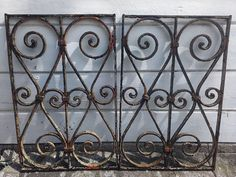 Pair of Vintage French Iron Pieces by DreaminParis on Etsy, $275.00