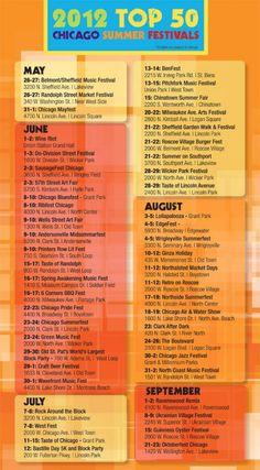 New Post! Chicago Festival Guide!