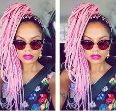Light pink box braids