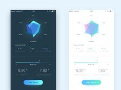 User Interface Patterns about Intelligent financial management. Dashboard Design, App Ui Design, User Interface Design, Design Web, Ux Wireframe, Web Design Mobile, Car App, Budget App, Mobile App Ui