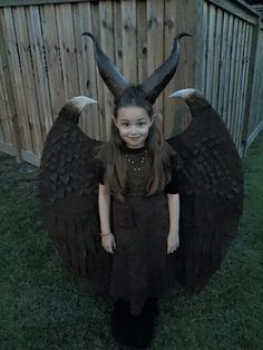 Young Maleficent costume DIY