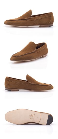 The Porto Cervo is a stylish and colorful Venetian loafer designed to accompany you in your summer getaways. Made of calf buckskin, the Porto Cervo is an extremely comfortable moccasin that you can perfectly wear sockless. Venetian, Moccasins, Loafers Men, Oxford Shoes, Dress Shoes, Slippers, Colorful, Flats, Luxury