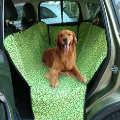 Amazon.com : Petkuguo Oxford Fabric Double Layer Waterproof Dog Cat Car Seat Cover Safety Pet Waterproof Hammock Blanket Cover Mat Travel with Carry Bag 51.18 X 17.72 inch Green : Pet Supplies
