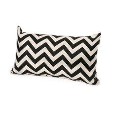 Chateau Designs Outdoor Chevron Lumbar Pillow (12 x 20) (Canyon), Orange, Outdoor Cushion