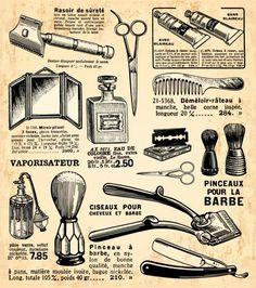 ヴィンテージ ヘアードレッサー デザイン Vintage hairdresser design elements(1)