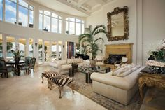 Tall ceilings, abundant light, perfect living room