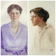 Self-portraits by Grand duchess Olga Alexandrovna. Olga was an avid artist who as seen here was quite skilled as a painter. Grand Duchess Olga, Learn Art, Kids Learning, Portrait, Artist, Pictures, Painting, Women, Fashion