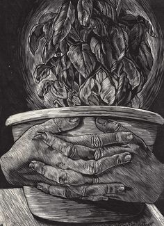 Mei Chen Tseng | Isabella and the Pot of Basil | 2008 | Wood engraving