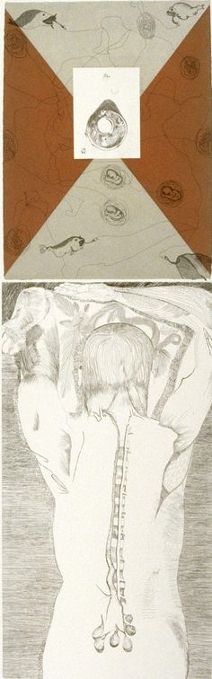 Francesco Clemente  Telemone #2, 1981  Color hard ground and soft ground etching with aquatint