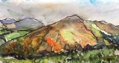 2016-11-23 Glimmer of improving weather on Welsh Hills (Artist Mary)