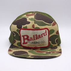 35dea6b3ff2 Details about Vintage Camo Trucker patch Hat Farmer Made in USA Realtree  Drummond American S1a