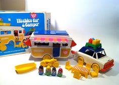 Weebles Car & Camper one of my favorite toys. We actually took this camping with us and enjoyed the real adventure.