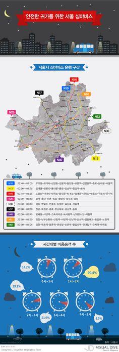 """[인포그래픽] 서울 심야 버스...9개 노선으로 확대 실시[인포그래픽] #bus #seoul / #Infographic"""" ⓒ 비주얼다이브 무단 복사·전재·재배포 금지"""