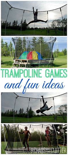 Trampoline Games and fun ideas that will keep the kids happy for hours!