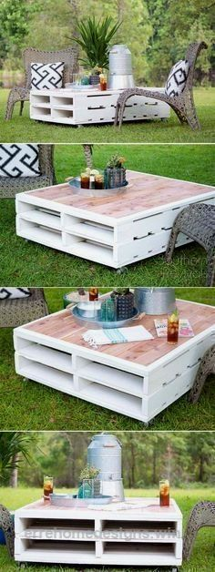 Home Design Ideas: Home Decorating Ideas For Cheap Home Decorating Ideas For Cheap Check it out DIY Outdoor Pallet Coffee Table | cheap home decor ideas | rustic c... #outdoordiytable #rustichomedecorcheap