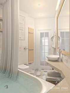 Четырёхкомнатная квартира в Москве «Scandinavian Breath». Ванная