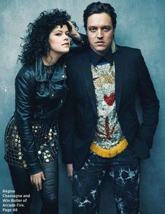 Regine Chassagne and Win Butler from Arcade Fire! I love these two both. Best rock couple ever!