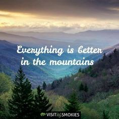 I'll have to find out. Do you agree? Check out Groovy Getaway overlooking the Smokies in Gatlinburg Hiking Quotes, Travel Quotes, Vacation Quotes, Wanderlust Quotes, Frases Escape, Mountain Quotes, Image Nature, Mountain Vacations, The Mountains Are Calling