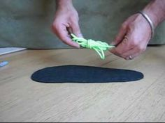 Make huaraches (Tarahumara running sandals) 3/3 - YouTube