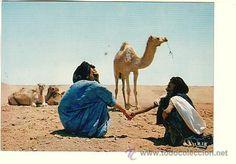 Postales: SAHARA ESPAÑOL.- MERCADO DE CAMELLOS - Foto 1 - 52617117