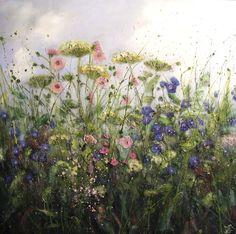'Memories to cherish' by Marie Mills, 100cm x 100cm,Oil on linen, £1495. www.lyndhurstgallery.co.uk
