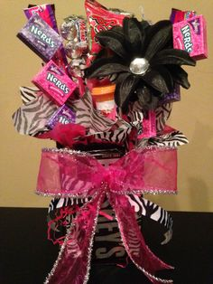 Girls zebra birthday party !!