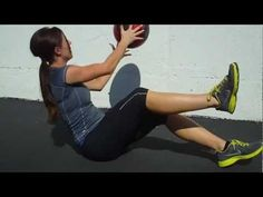 Loose that belly fat with the Seated Twist with a Chest Pass! exercises fitness