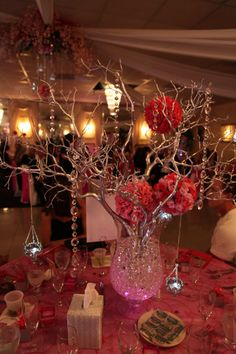 Manzanita Branch Centerpiece by HOOTAMAMA on Etsy, $75.00 omg @Samantha Jarnagin look at this center piece, so pretty!
