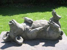 Elegant Pig C Garden Statue